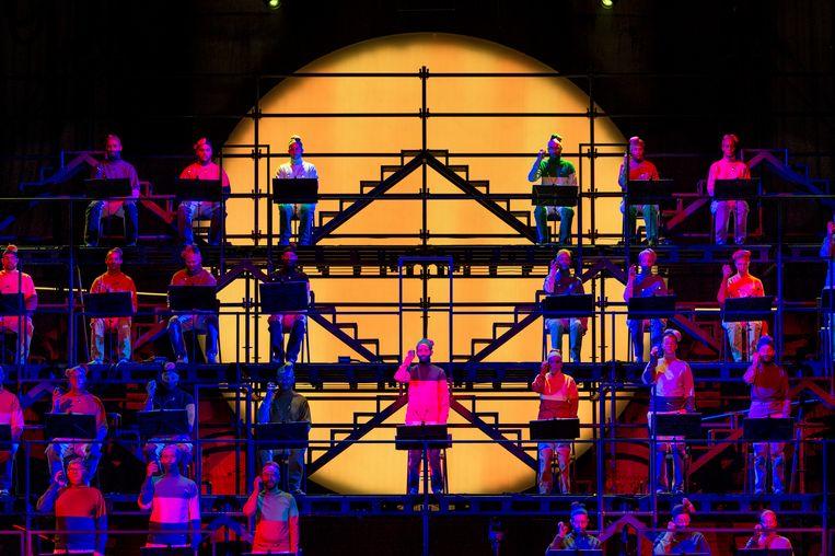 De Nederlandse Opera op Holland Festival. Hoewel het festival binnen de culturele basisinfrastructuur valt en dus subsidie krijgt, zal deze de komende vier jaar verminderd worden met 15.6 procent. Beeld  Ruth & Martin Walz