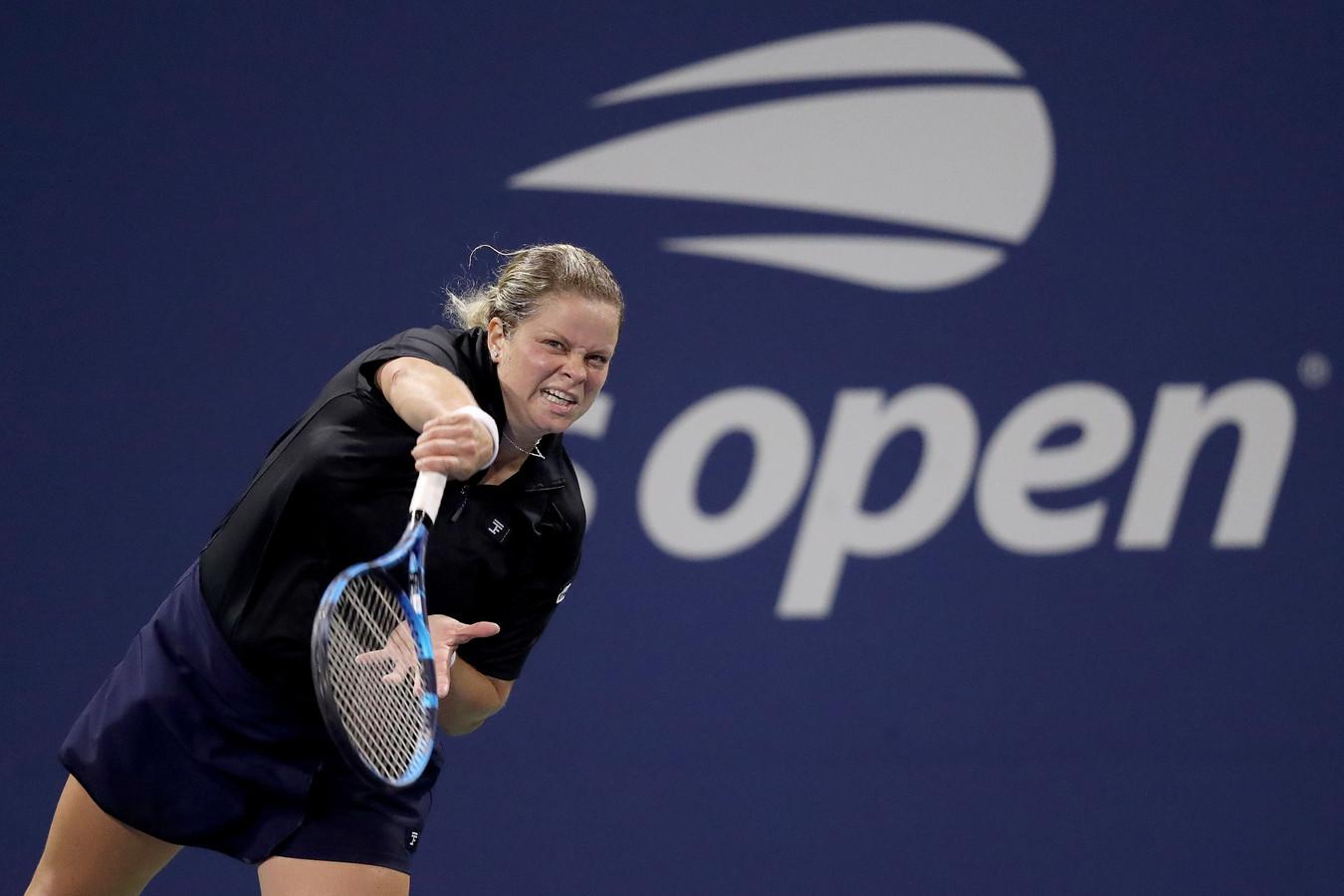 Kim Clijsters op de US Open begin september 2020.