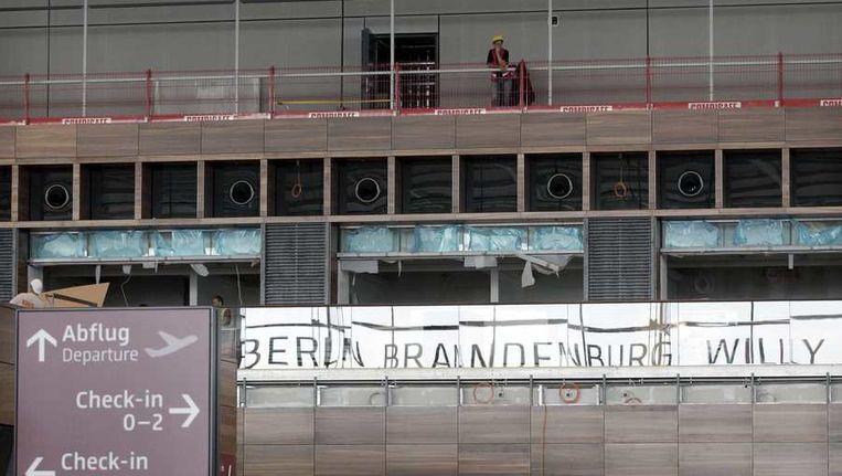 Het vliegveld Berlin-Brandenburg is nog in aanbouw. Beeld reuters