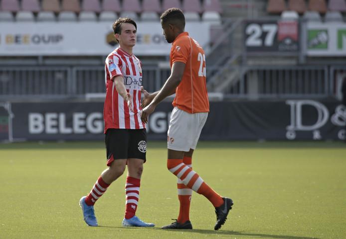 Obi Onyeike ijdens de wedstrijd Jong Sparta Rotterdam-TEC (3-1) vorige week.