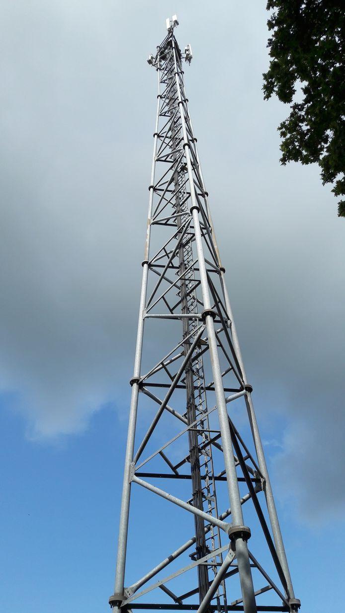 De mast van T-Mobile aan de Noordijkerveldweg, waarop KPN kan meeliften.
