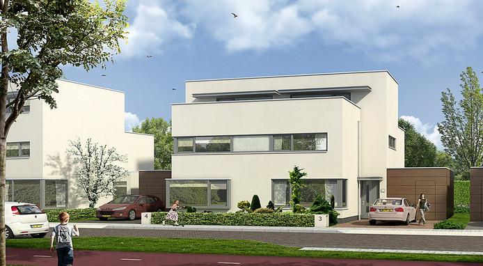Artist impression nieuwbouw aan Muldersweg in Etten-Leur