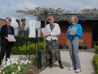 Katrien, Françoise en Ingrid maken samen boek waar schilderijen, gedichten en foto's met elkaar interageren