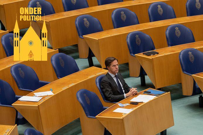 Mark Rutte in de Tweede Kamer.