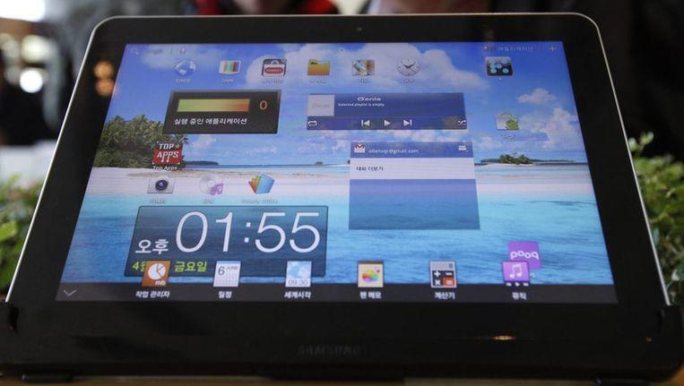 De Galaxy Tab van Samsung Beeld reuters