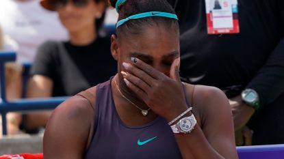 Huilende Serena Williams geeft al snel op in finale Toronto - Mertens tuimelt uit top 20 - Goffin zakt een plaats