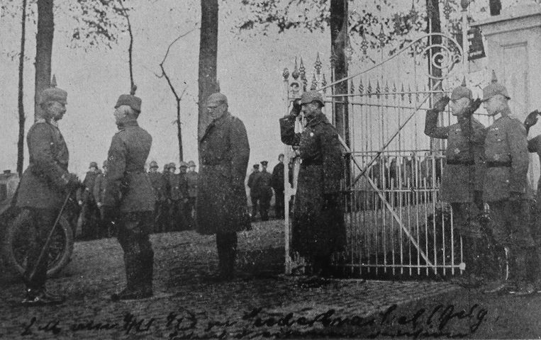 Keizer Wilhelm II in het Oost-Vlaamse Nederbrakel.