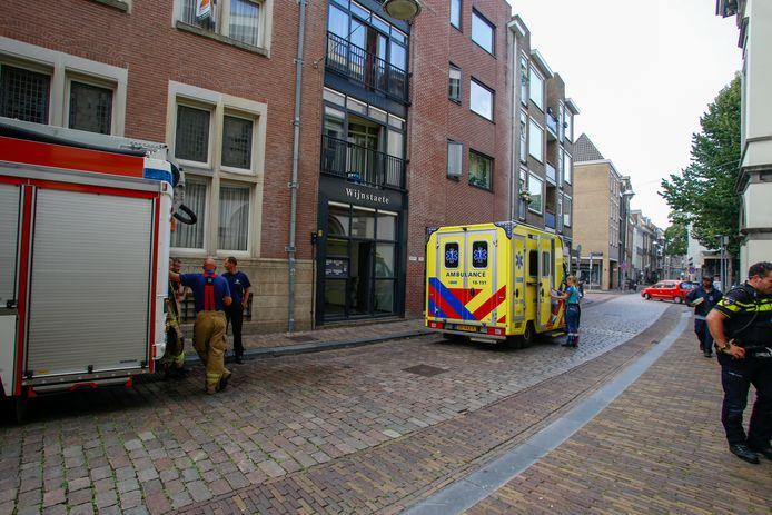 Hulpdiensten kwamen ter plaatse in de Wijnstraat