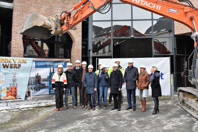 De bouwwerken voor het nieuwe Kantkwartier werden officieel gestart.