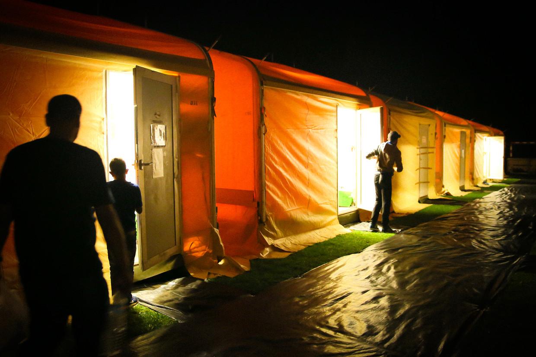 Archiefbeeld tenten uit 2015 Beeld RV ©Fedasil