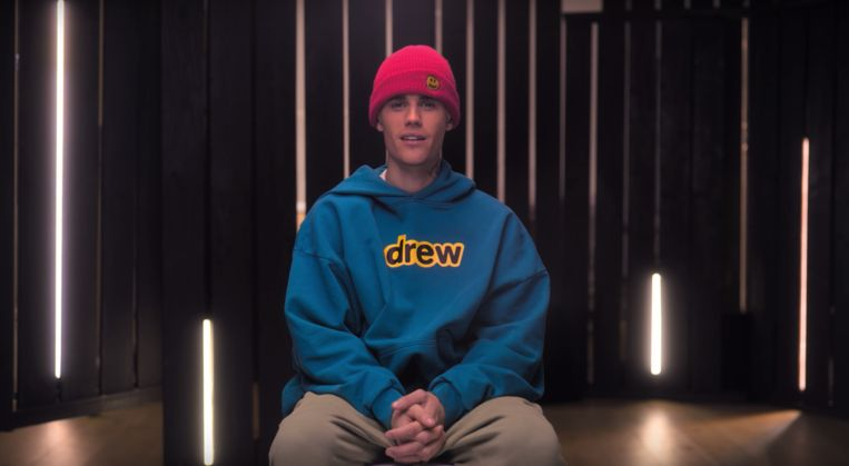 Justin Bieber in zijn docuserie 'Seasons'. Beeld YouTube