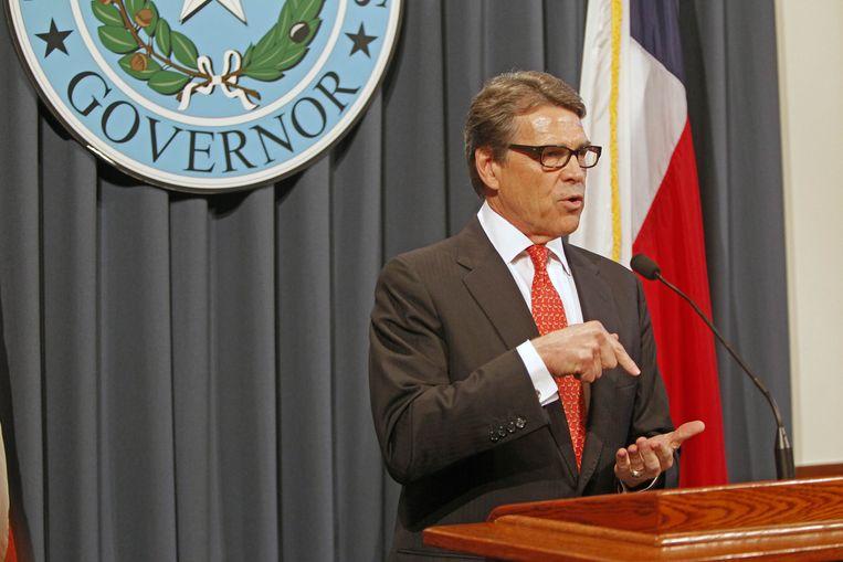 Gouverneur Rick Perry Beeld ap