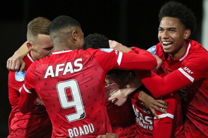 AZ had veel te juichen dit seizoen, zo ook thuis tegen ADO Den Haag (4-0). Het was de laatste wedstrijd voorlopig van de Alkmaarders.