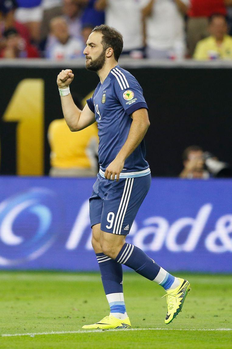Higuaín onderhandelt met Napoli over een contractverlenging Beeld AFP