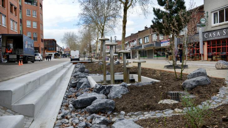 Plantenbakken tegen hardrijders op de Grotestraat in Nijverdal