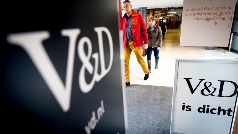 Warenhuis V&D is langzaam uit het straatbeeld verdwenen. De merknamen zijn in handen van het Cool Cat-imperium Beeld anp
