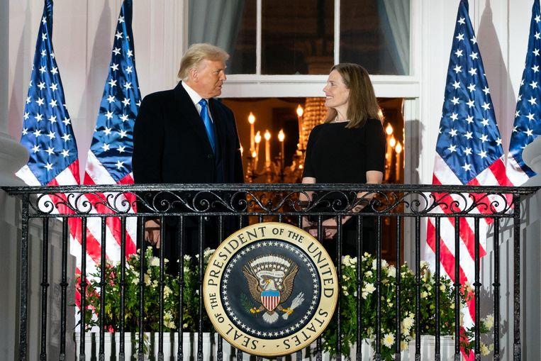 President Trump met Amy Coney Barrett. Beeld Photo News