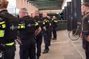 Politieinzet op het station van Eindhoven.