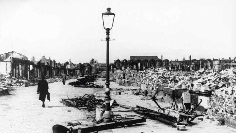 Rotterdam, mei 1940. Beeld anp
