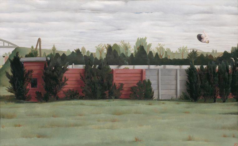 Pyke Koch, Het Dorpszwembad I, 1953, olieverf op doek, 37,5 x 59,5 cm, Museum MORE Gorssel. Beeld collectie Museum MORE