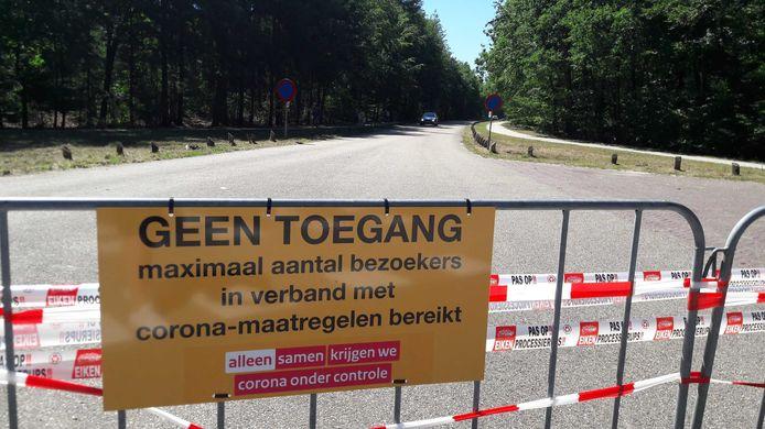 Het Heerderstrand is afgesloten voor nieuwe bezoekers.