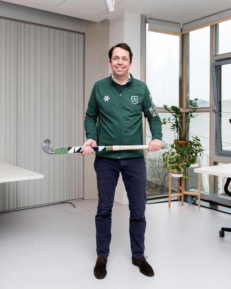 Diederik Chevalier,  voorzitter van Hockeyclub Rotterdam Beeld Eva Faché