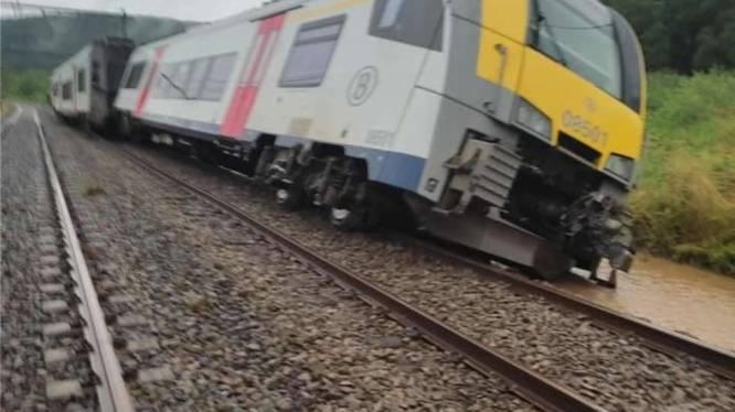 Un train déraille à Rochefort-Jemelle, les dégâts sont importants