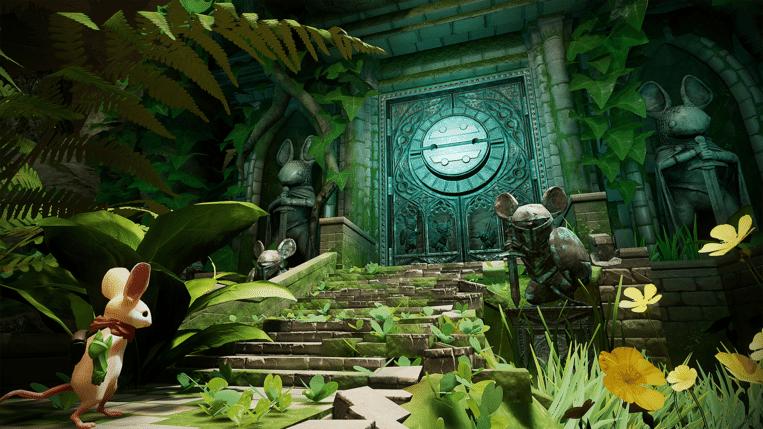 'Moss' is wellicht de eerste actiegame waarin het perspectief van het hoofdpersonage en dat van de speler van elkaar worden losgerukt. Beeld Polyarc