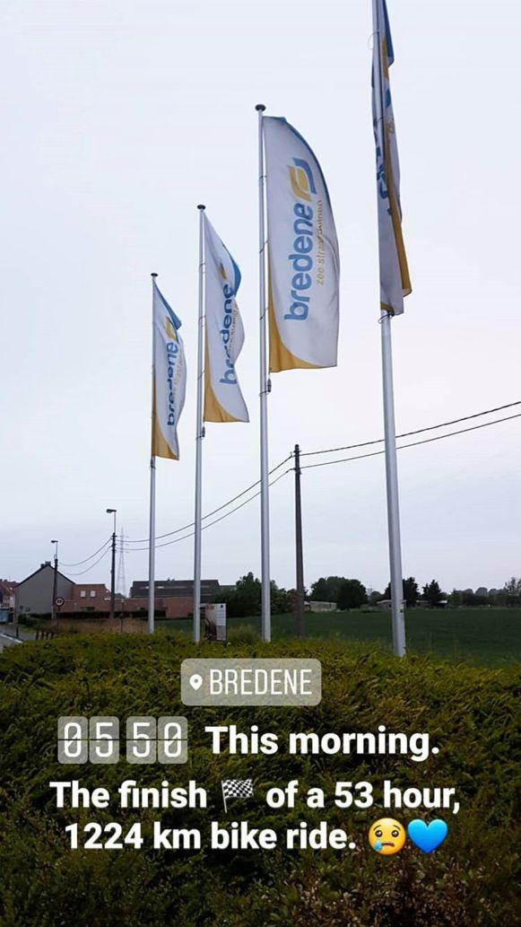 Gisterenochtend kwam Bonne aan in Bredene, na een tocht van meer dan 53 uur.