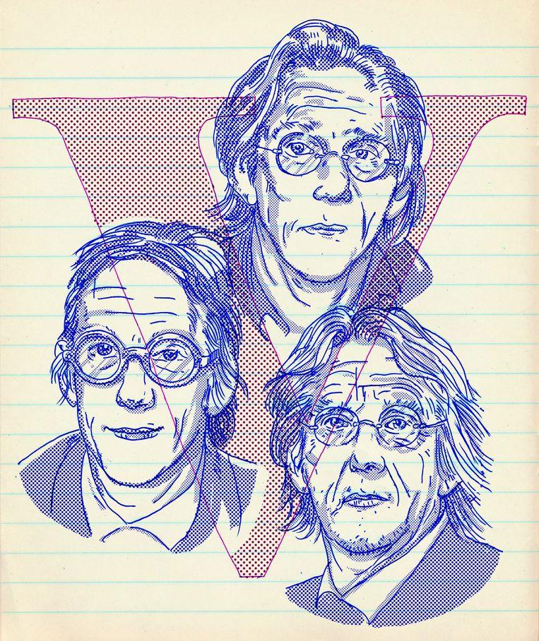 De cover van Volkskrant-bijlage V Beeld Tzenko