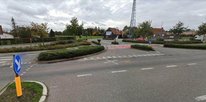 Aan dit kruispunt vond het ongeval plaats.