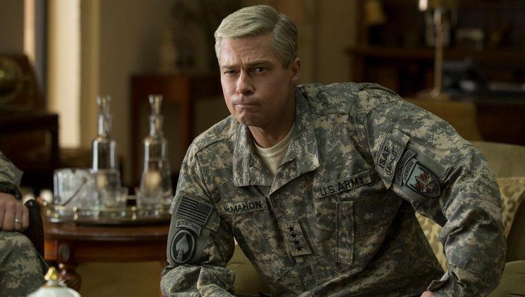 De satire War Machine, met Brad Pitt als falende Amerikaanse generaal in Afghanistan, werd aangekondigd als paradepaard van Netflix. Beeld Netflix