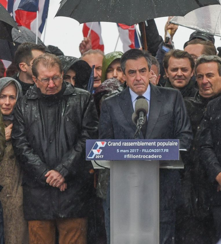 De omstreden Franse presidentskandidaat François Fillon. Beeld Photo News