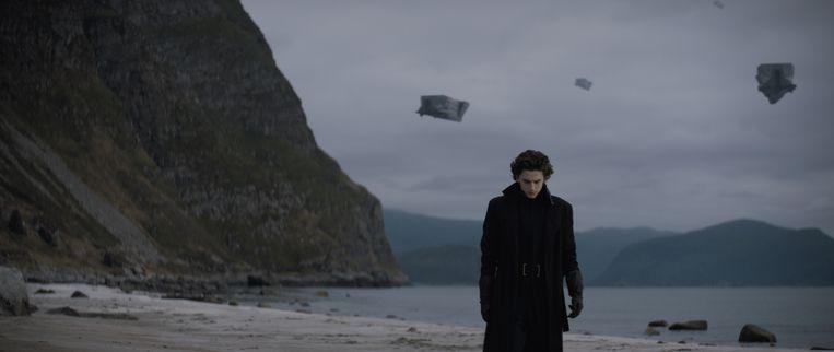 Timothée Chalamet in Dune. Beeld