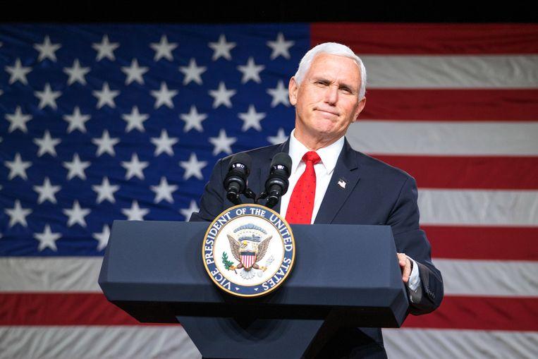 Mike Pence ging niet mee in Trumps fictie dat de vicepresident de verkiezingsuitslag kan afwijzen. Beeld Getty Images