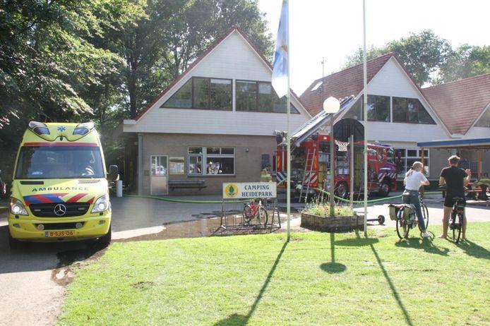 De keuken van camping Heidepark is door brand in een frituurpan buiten gebruik.