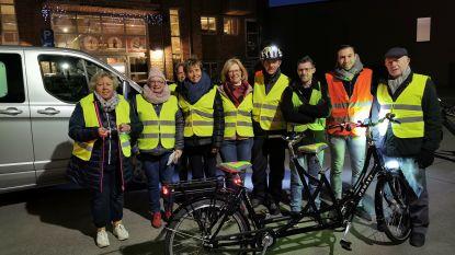 Weerman Frank Deboosere sluit Fluodag in Halle af met fietstochtje richting Wereldcafé