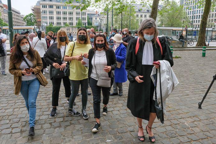 Familie en vrienden voerden bij de behandeling van het dossier actie voor het justitiepaleis