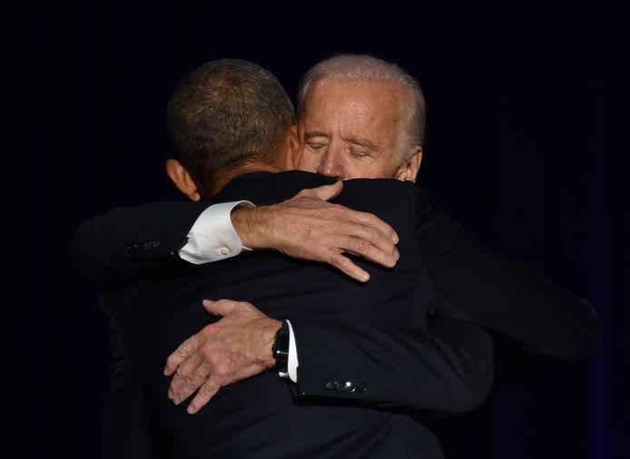 Barack Obama et Joe Biden en janvier 2017.
