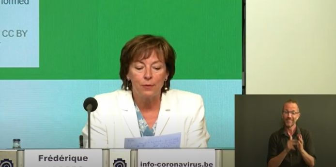 Frédérique Jacobs, porte-parole interfédérale Covid-19.