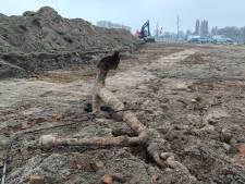 Bouwers slaan oud anker aan de haak bij werkzaamheden Waalkade Tiel