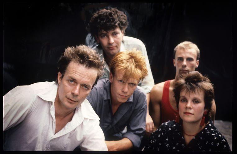 The Scene in 1989. Samen met Tröckener Kecks zetten ze de Nederlandstalige rock weer op de kaart. Beeld Reporters / Knaeps
