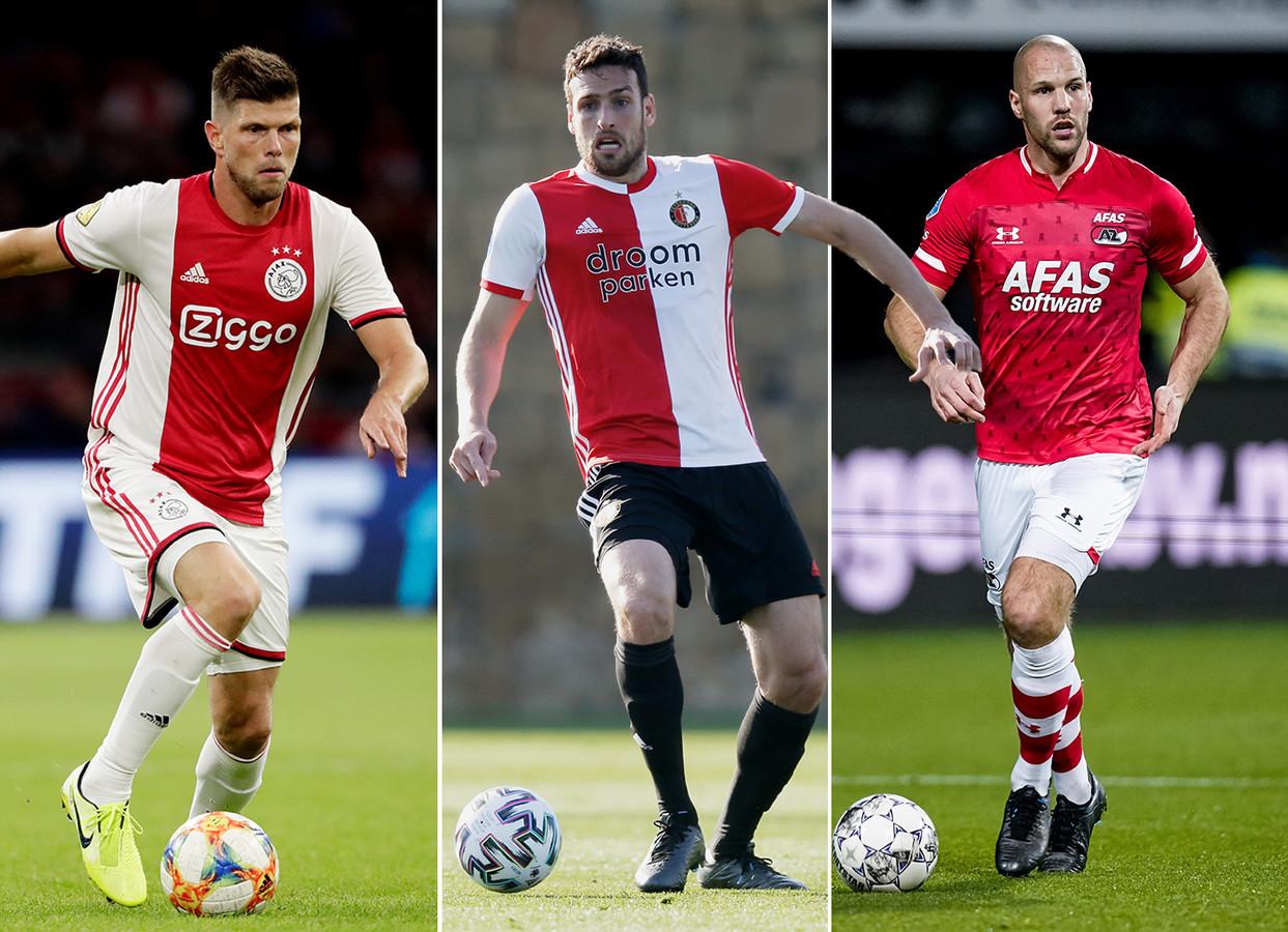 Vlnr: Klaas-Jan Huntelaar, Eric Botthegin en Ron Vlaar.