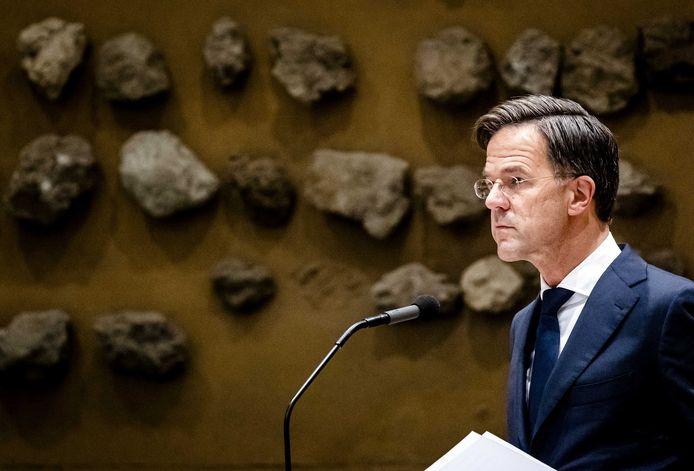 Ontslagnemend premier van Nederland Mark Rutte.