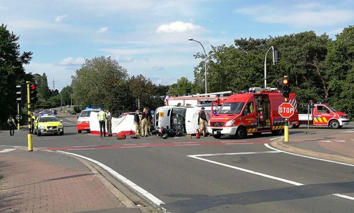 Het ongeval op de Oosterloseweg in Geel