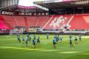Voor de thuiswedstrijd tegen FC Antwerp moest AZ uitwijken naar het stadion van FC Twente.