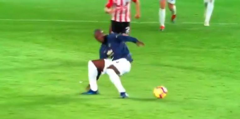 Lukaku struikelde tegen Southampton na een balaanname.