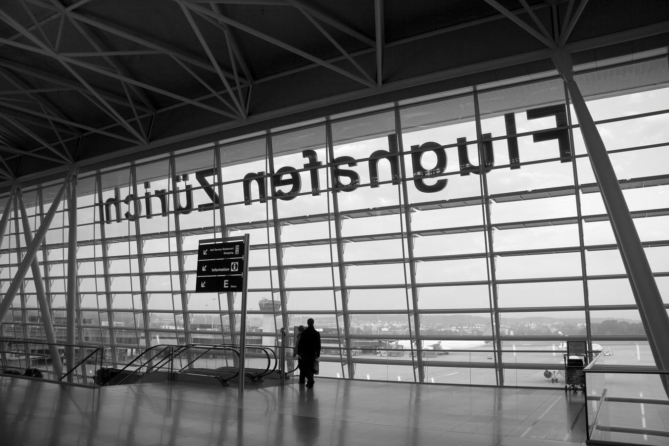Vliegveld Zurich.