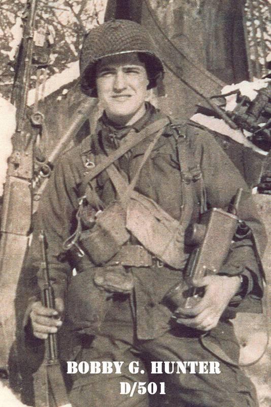 Bobby Hunter was een van de eerste bevrijders die landde in Eerde.