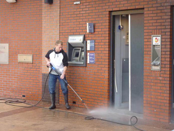 Archiefbeeld. Nasleep van plofkraak Rabobank-automaat Gorinchem - Piazza Center.
